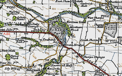 Old map of Rokeby Park in 1947
