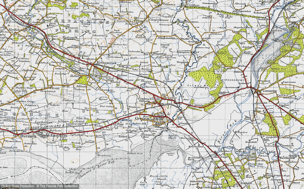 Old Map of Gretna Green, 1947 in 1947