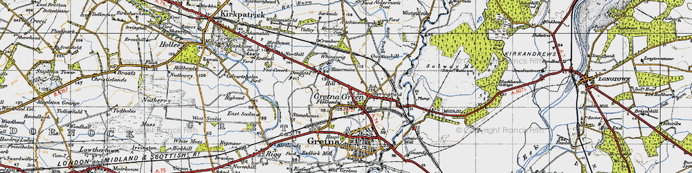 Old map of Gretna Green in 1947