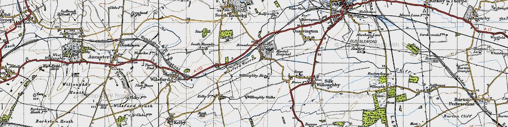Old map of Wilsford Warren in 1946