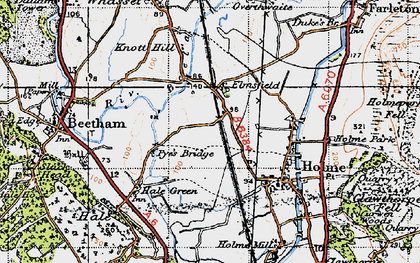 Old map of Limestone Link in 1947