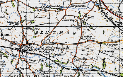 Old map of Langber in 1947