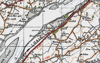 Old map of Griffith's Crossing in 1947