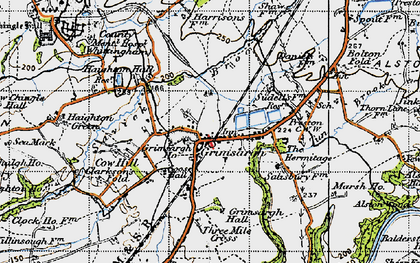 Old map of Alston Hall in 1947