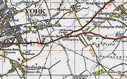Old map of Langwith Lodge in 1947