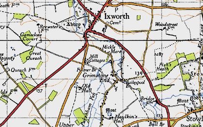 Old map of Baileypool Br in 1946