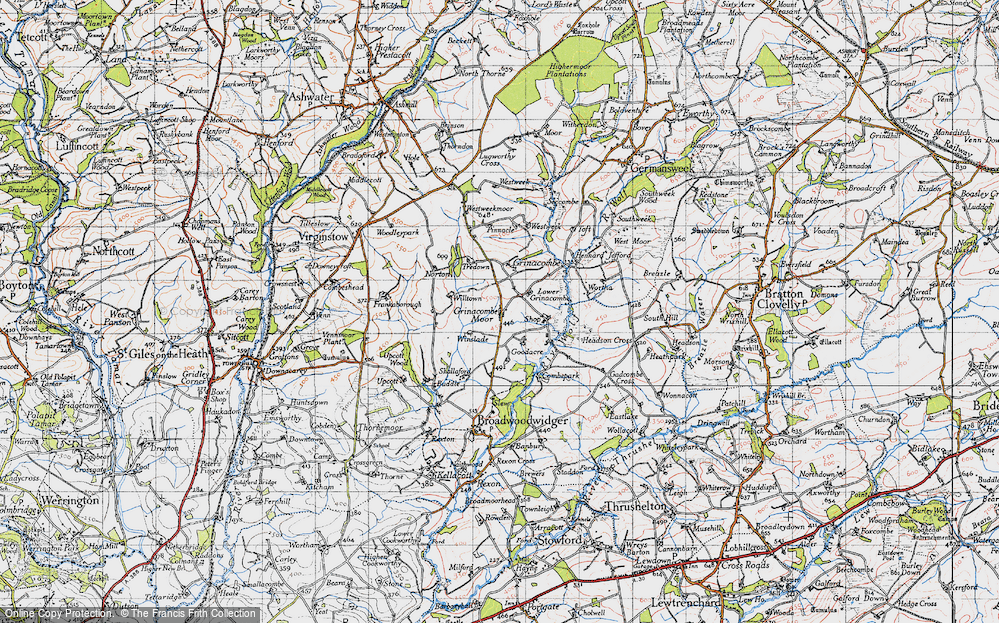 Old Map of Historic Map covering Toft in 1946
