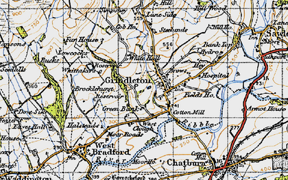 Old map of Asker Hill in 1947