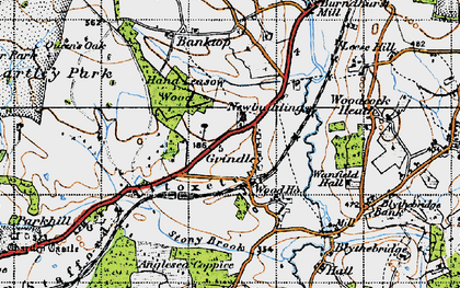 Old map of Leese Hill in 1946