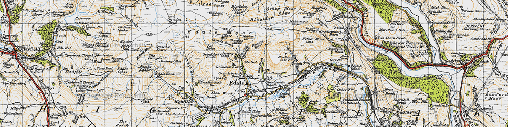 Old map of Wicken, The in 1947