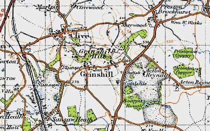 Old map of Woodstile in 1947