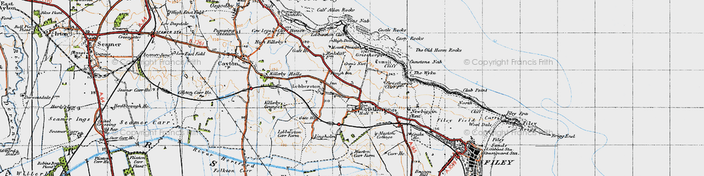 Old map of Gristhorpe in 1947