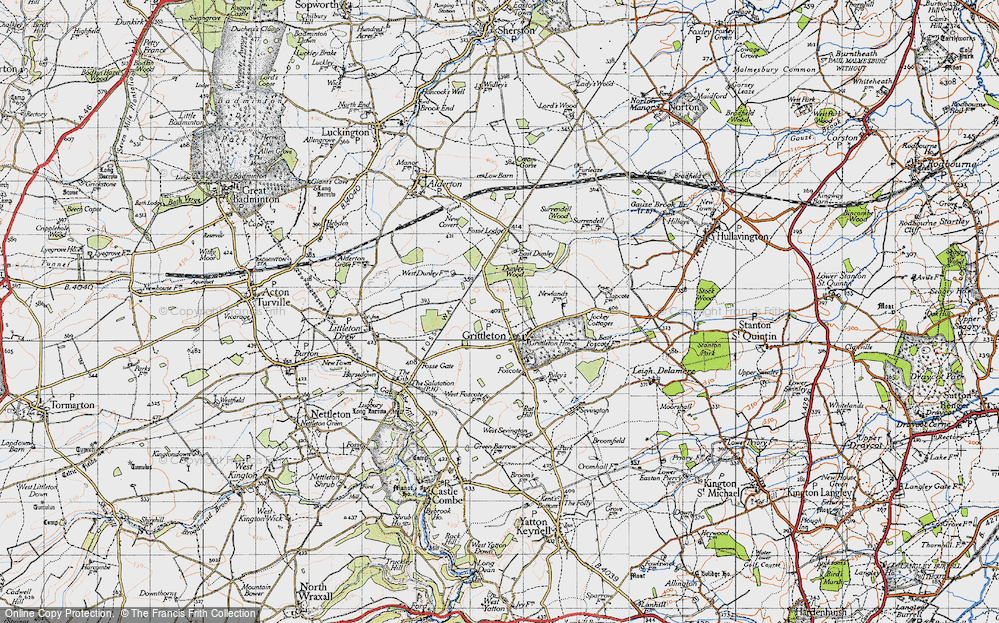 Old Map of Grittleton, 1946 in 1946