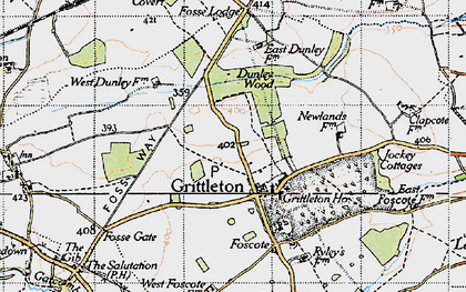 Old map of Grittleton in 1946