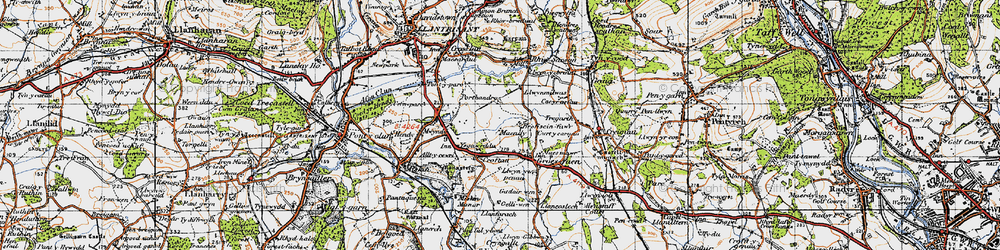 Old map of Groes-faen in 1947