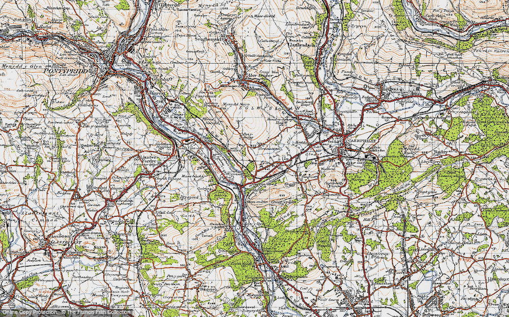 Old Map of Groes-wen, 1947 in 1947