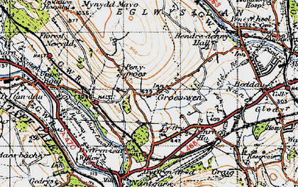 Old map of Groeswen in 1947