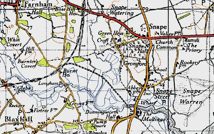 Old map of Langham Br in 1946
