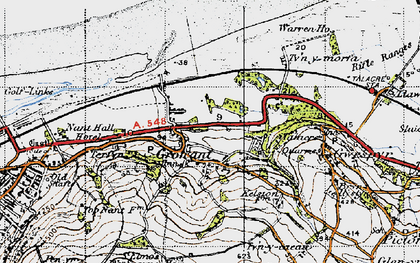 Old map of Tyn-y-Morfa in 1947