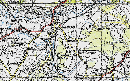 Old map of Lealands in 1946