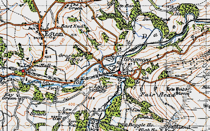 Old map of Grosmont in 1947