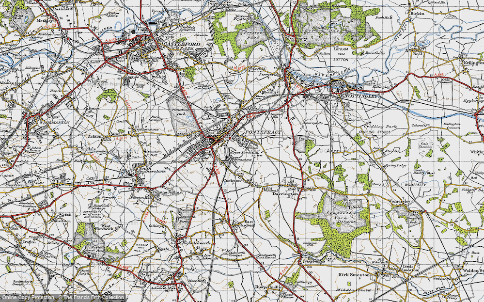 Old Map of Historic Map covering Baghill Sta in 1947