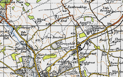 Old map of Grovehill in 1946