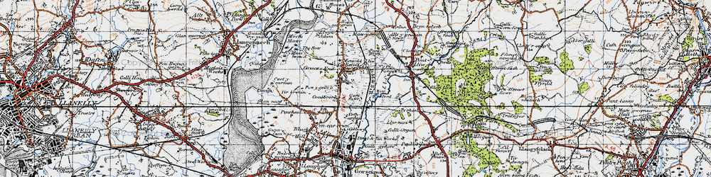 Old map of Grovesend in 1947