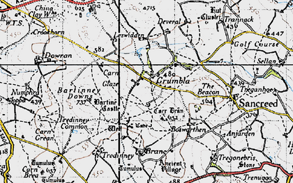 Old map of Grumbla in 1946