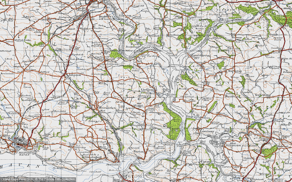 Old Map of Historic Map covering Ashdale in 1946