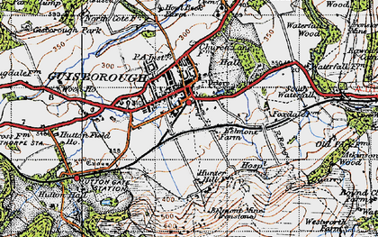 Old map of Guisborough in 1947