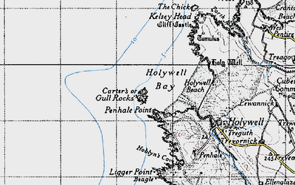 Old map of Gull in 1946