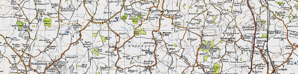 Old map of Woolmer Wood in 1946