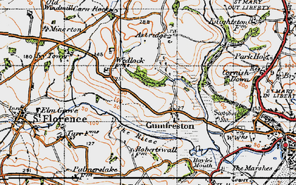 Old map of Astridge in 1946