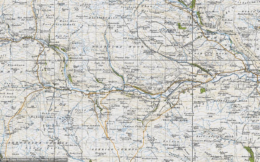 Old Map of Gunnerside, 1947 in 1947
