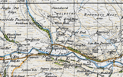 Old map of Whin Hall in 1947