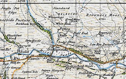 Old map of Gunnerside in 1947