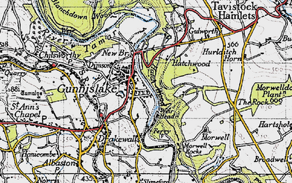 Old map of Gunnislake in 1946