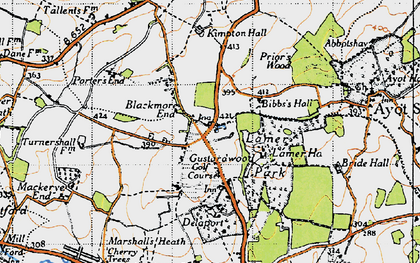 Old map of Gustard Wood in 1946
