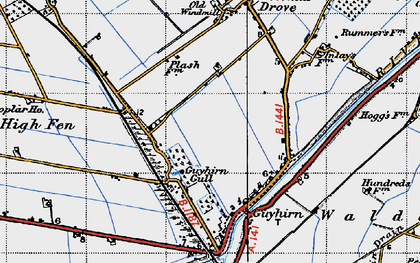 Old map of Wisbech High Fen in 1946