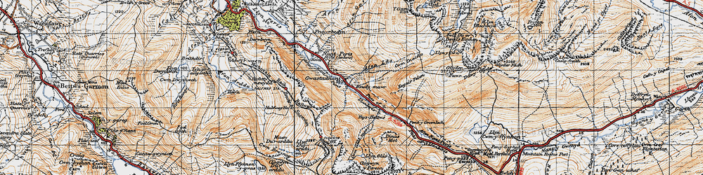 Old map of Ynys Ettws in 1947