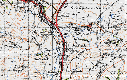 Old map of Baily Glas Uchaf in 1947