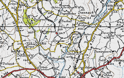 Old map of Gwavas in 1946