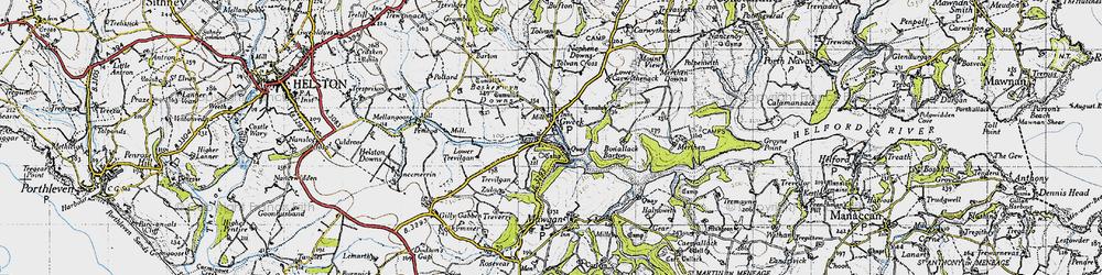 Old map of Tolvan Cross in 1946