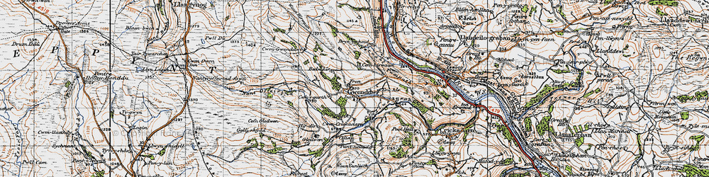 Old map of Wye Valley Walk in 1947