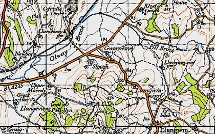 Old map of Allt-y-bela in 1946