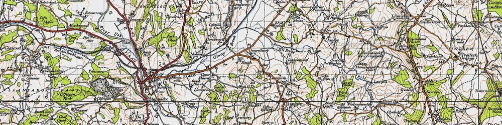 Old map of Allt-y-bela in 1946
