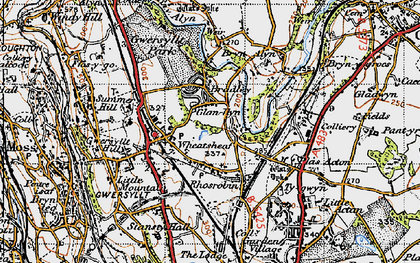 Old map of Gwersyllt in 1947