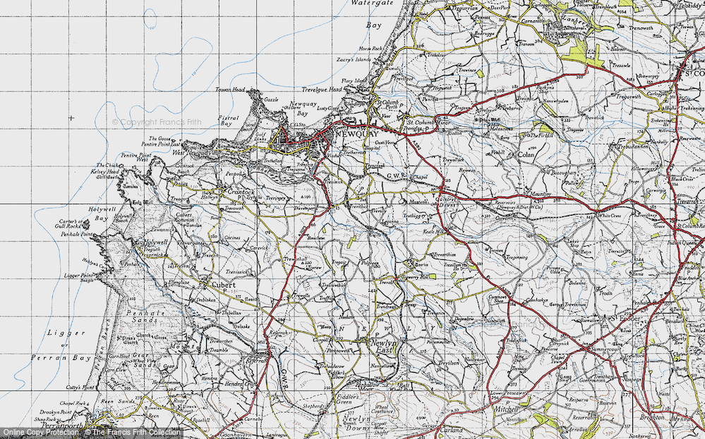 Old Map of Historic Map covering Legonna in 1946