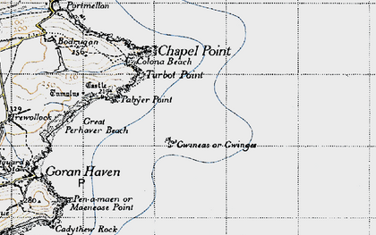 Old map of Gwinges in 1946